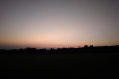Západ Slunce cestou na Haničku